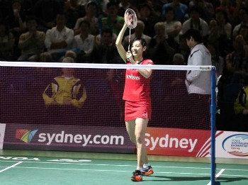 Sayaka TAKAHASHI~photo courtesy of Australian Badminton Open