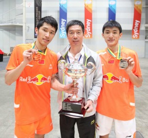 TIAN Hauwei(L) and SONG Xue~photo courtesy of Australian Badminton Open