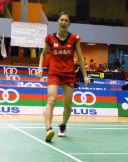 Aya on the court