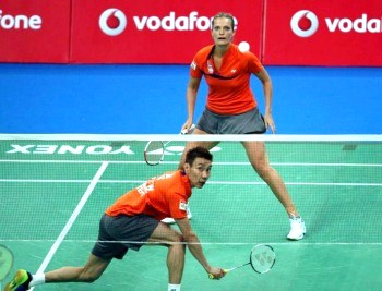 ChongWei plays not only singles but doubles as well ~photo courtesy of IBL