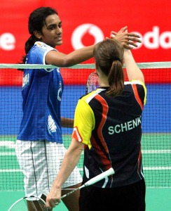 P.V.Sindhu leads Worriers to semifinals ~photo courtesy of IBL