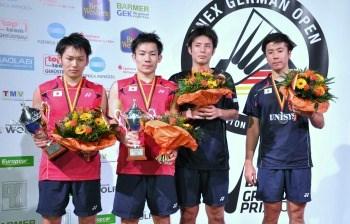 MD champion&runner-up : Takeshi KAMURA/Keigo SONODA, Kenichi HAYAKAWA/Hiroyuki ENDO ~photo courtesy of Claudia PAULI