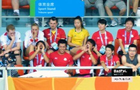 Cheering for Japan