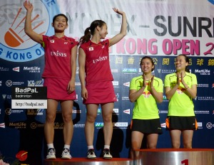 Ayaka / Misaki's 3rd loss to ZHAO / TIAN of China in SS