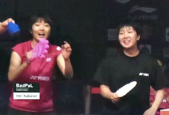 Eriko and Akane fought together as members of Team Japan in Uber cup 2014 @archives