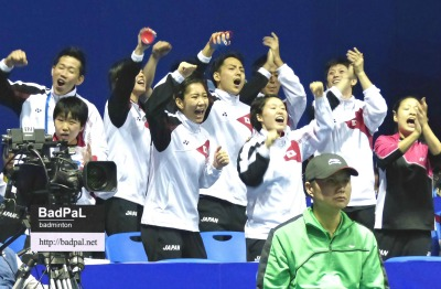 Team Japan fought together on and off the court