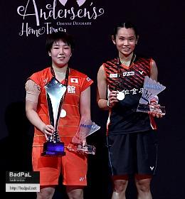 Akane and TAI TzuYing ~photo courtesy of Badminton Denmark (BadmintonPhoto)