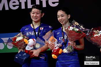 Ayaka/Misaki ~photo courtesy Badminton Denmark (BadmintonPhoto)