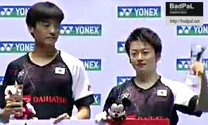 First for Yuki/Takuto, third for Aya at Pre-World C'ships tournament